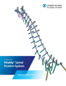 Zimmer Biomet Announces U.S. Launch of Vitality®+ and Vital™ Spinal Fixation Systems